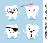 tooth characters | Shutterstock .eps vector #253687225