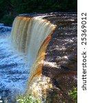 Tahquamenon Falls Rapids on river in Upper Peninsula, Michigan