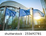 european union flag against...