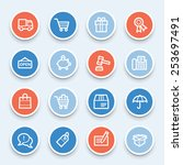shopping web icons | Shutterstock .eps vector #253697491