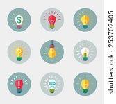 light bulb flat vector icon... | Shutterstock .eps vector #253702405
