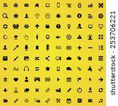 100 webdesign icons | Shutterstock .eps vector #253706221
