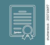 vector illustration of modern b ... | Shutterstock .eps vector #253710697