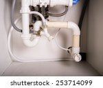 pipes and plumbing under a... | Shutterstock . vector #253714099