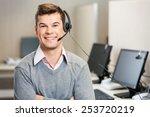 portrait of confident male... | Shutterstock . vector #253720219