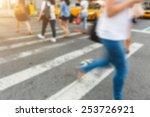 people walking on zebra... | Shutterstock . vector #253726921