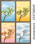 branch as symbol of the four... | Shutterstock .eps vector #253738045