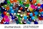 Beautiful Glass Beads Closeup...
