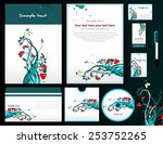 corporate style with floral... | Shutterstock .eps vector #253752265