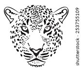 Leopard Head. Illustration...