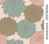 lovely spring seamless floral...   Shutterstock .eps vector #253760464