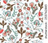 seamless floral pattern | Shutterstock .eps vector #253762885