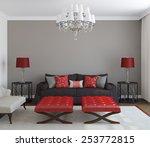 modern living room interior.... | Shutterstock . vector #253772815