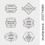 set of retro line abstract... | Shutterstock .eps vector #253774084