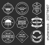 express delivery label and... | Shutterstock .eps vector #253778407