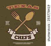 chefs vintage t shirt graphics... | Shutterstock .eps vector #253778419
