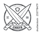 chefs vintage t shirt graphics... | Shutterstock .eps vector #253778479