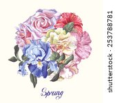 spring illustration with... | Shutterstock .eps vector #253788781