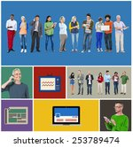 community communication...   Shutterstock . vector #253789474