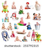 collage of beautiful and happy... | Shutterstock . vector #253792315