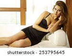 beautiful attractive sensuality ... | Shutterstock . vector #253795645