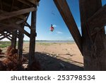 A Fishing Lure Dangles Below A...