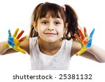 beautiful girl playing with... | Shutterstock . vector #25381132