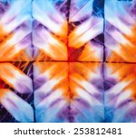 abstract tie dyed fabric... | Shutterstock . vector #253812481