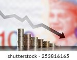 symbol of inflation and... | Shutterstock . vector #253816165