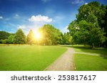 sunrise in the beautiful park | Shutterstock . vector #253817617