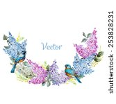 lilac  watercolor  vector ...   Shutterstock .eps vector #253828231