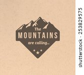 mountain label with type design ... | Shutterstock .eps vector #253829575
