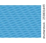 seamless sea pattern. blue and... | Shutterstock . vector #253831645