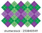 Argyle Layout Design In Purple...