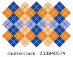 Argyle Layout Design In Blue...
