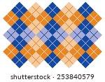 Argyle Layout Design In Blue...