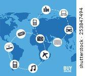 shopping concept design  vector ... | Shutterstock .eps vector #253847494