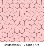 brain pattern  repeatable  | Shutterstock .eps vector #253854775