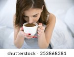 portrait of a young woman... | Shutterstock . vector #253868281