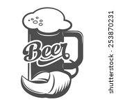 beer mug sign scalable vector... | Shutterstock .eps vector #253870231