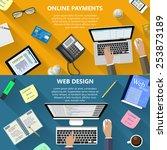 modern flat design web design...