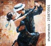 Tango Dancers Digital Painting...