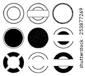 set of round stamp grunge... | Shutterstock .eps vector #253877269