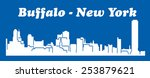 buffalo  new york | Shutterstock .eps vector #253879621