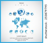 world map  | Shutterstock .eps vector #253879795