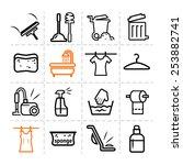 elegant vector black cleaning...   Shutterstock .eps vector #253882741