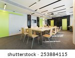 conference room interior | Shutterstock . vector #253884115