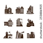 various types of construction.... | Shutterstock . vector #253886905