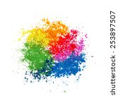 colorful powder paint. holi... | Shutterstock .eps vector #253897507
