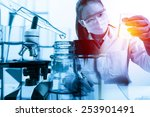 scientist with equipment and... | Shutterstock . vector #253901491